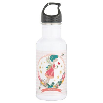 Spring Fairy Personalised Water Bottle - nursery ideas gift present idea diy individual customized