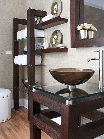 1000 images about 1 2 bath ideas on pinterest wall - Floating shelf ideas for bathroom ...