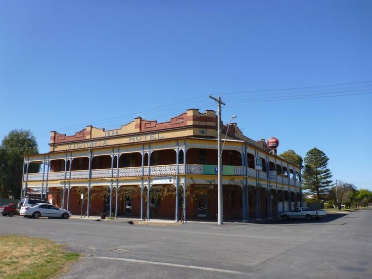The late Edwardian styled Victoria Hotel in Dimboola, built in 1924.