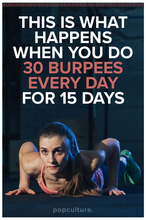 Thinking about skipping burpees? Think again, these are the amazing things that happen when you do 30 burpees every day for 15 days and get your cardio working for you. Popularculture.com