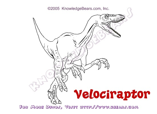 dinosaur coloring pages velociraptor sounds - photo#6