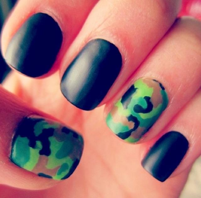 Army Nail Art Best 25+ Army nail art...