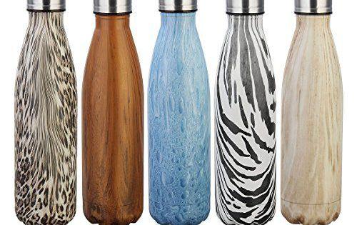 KING DO WAY 500ml Bouteille D'eau Isotherme Thermos Mug Flasque Réutilisable En Acier Inoxydable Pour Boissons Sport Camping Randonnée…