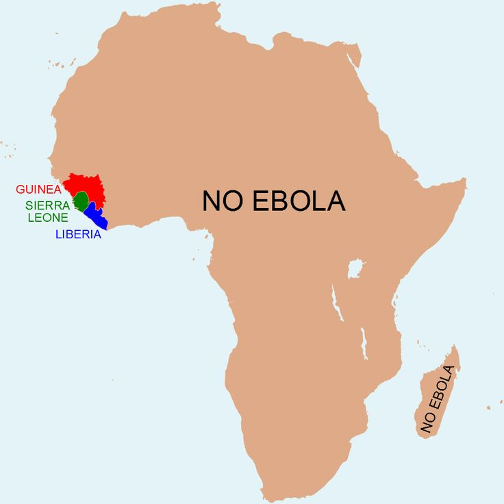 Map The Africa without Ebola 81 best