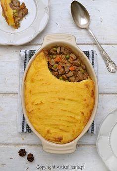 Wołowina zapiekana pod ziemniaczanym purée