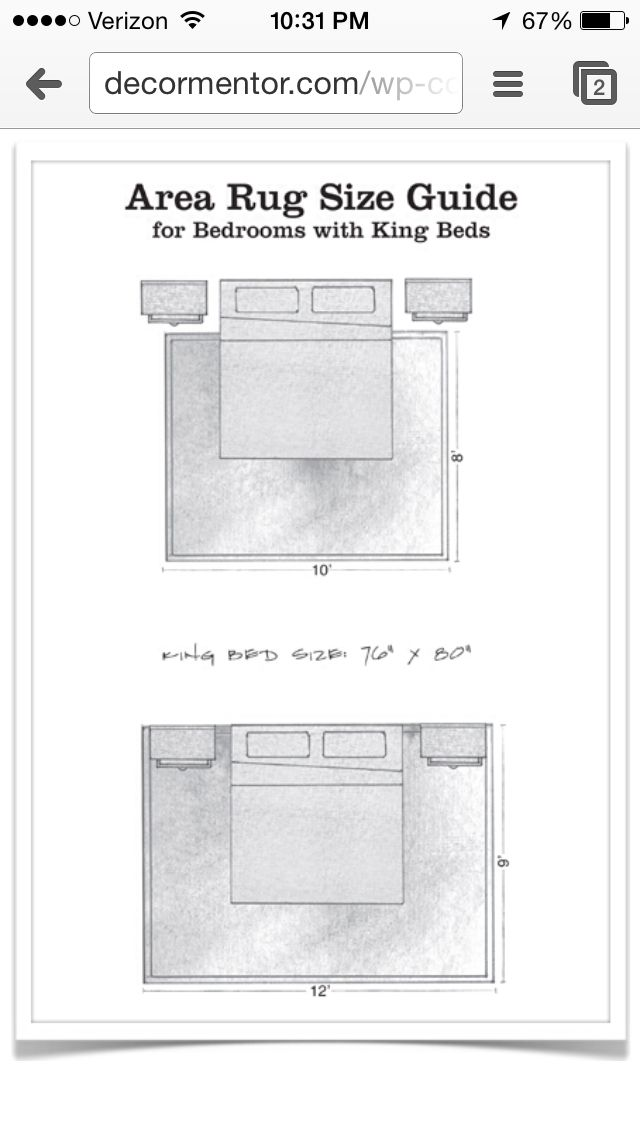 Area Rug Guide For A King Size Bed Diy Home Ideas