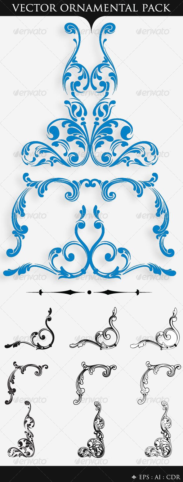 Woman cooking vector images amp pictures becuo - Vector Ornamental Pack 2 Graphicriver Typographic Vector Ornamental Pack 2 Which Can Add A
