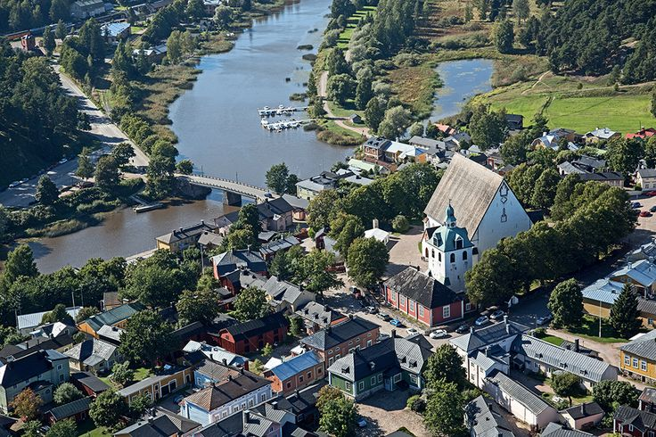 Aerial view of Porvoo Cathedral. www.visitporvoo.fi