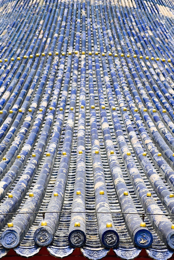 Blue Tile Roof at the Temple of Heaven Photograph  - Blue Tile Roof at the Temple of Heaven Fine Art Print