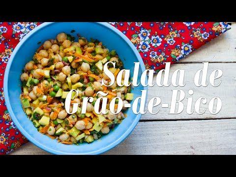 Como fazer Salada de Grão de Bico - YouTube