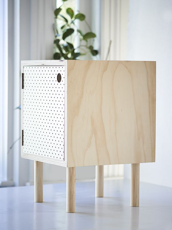 Pegboard Perfect - side table