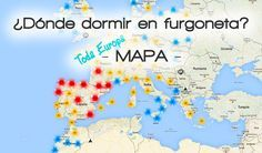 Mapa de los mejores sitios para dormir en furgoneta en España y Europa