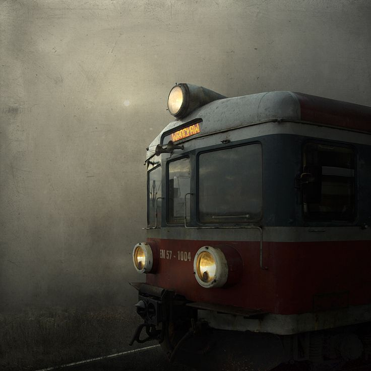 Train to Wroclaw by ~inz-feelgood, DeviantArt,  http://inz-feelgood.deviantart.com/art/Train-267332599  |  digital art, photomanipulation