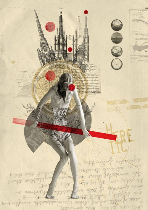 heretic by Kacper Kiec, mixed media Fresh artist on abstract & contemporary art // Featured by curator of gallery TACT
