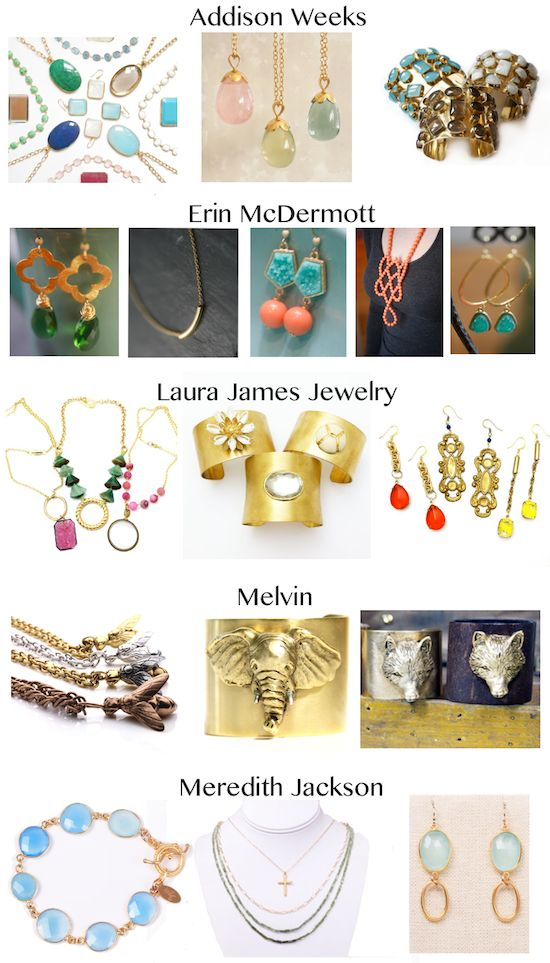 Melvin, Meredith Jackson, Laura James, Erin McDermott, Addison Weeks  - Mega Jewelry Trunk Show at Flywheel Cotswold. FRIDAY MAY 17th!
