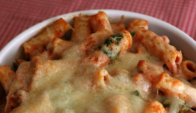 Lasagne-Style Baked Ziti by amyisaacson, Would substitute soy crumbles ...