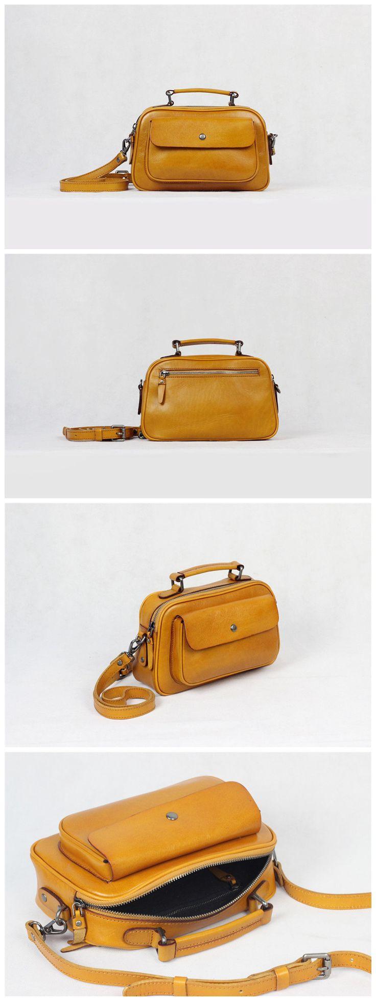Leather Messenger Bag Cross body Bag