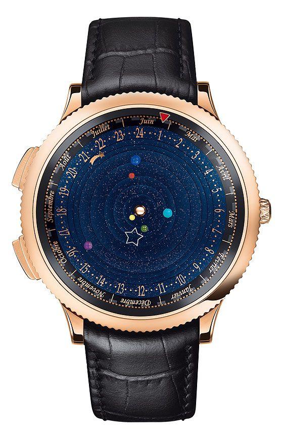 Midnight Planetarium Poetic Complication, da Van Cleef & Arpels, conta com seis discos rotatórios adornados com pequenas esferas que representam os seis planetas do Sistema Solar visíveis à olho nu.