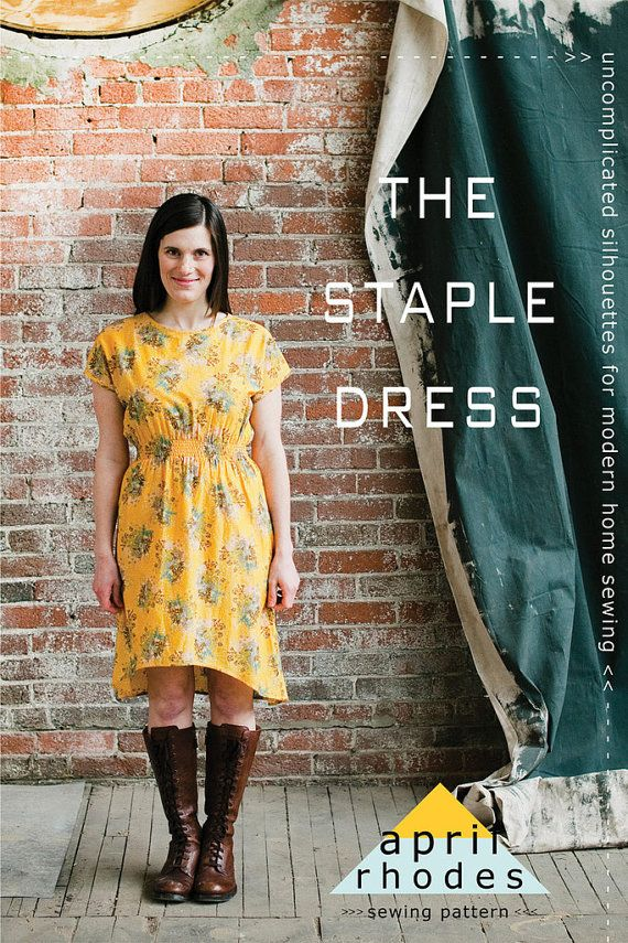 The Staple Dress Pattern by April Rhodes  Dress by Owlanddrum, $15.00