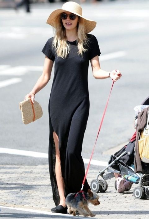 Maxi + SlitBlack Shorts, Maxi Dresses, Summer Outfit, Summer Style, Dogs Outfit, Jessicahart, Black Maxis Dresses, Jessica Hart, Sun Hats