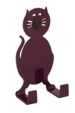 FARMHOUSE cat er en sød og charmerende aubergine·farvet kat med knurhår og lang hale. FARMHOUSE cat is a cute eggplant-colored animal with with whiskers and a long tail.  #morfo #morfodesign #morfodk  #danishdesign #designforkids #interior #hooks