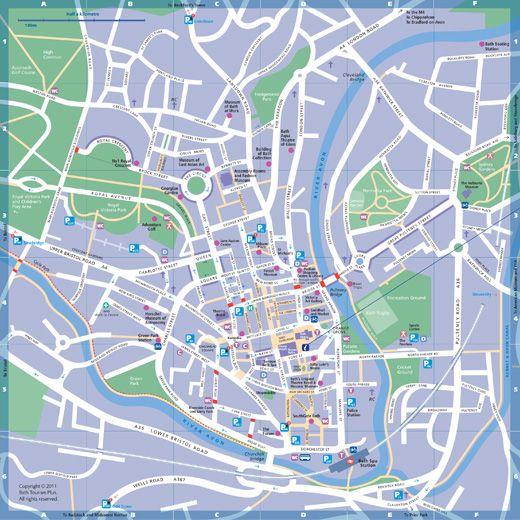 Bath UK City Centre Map