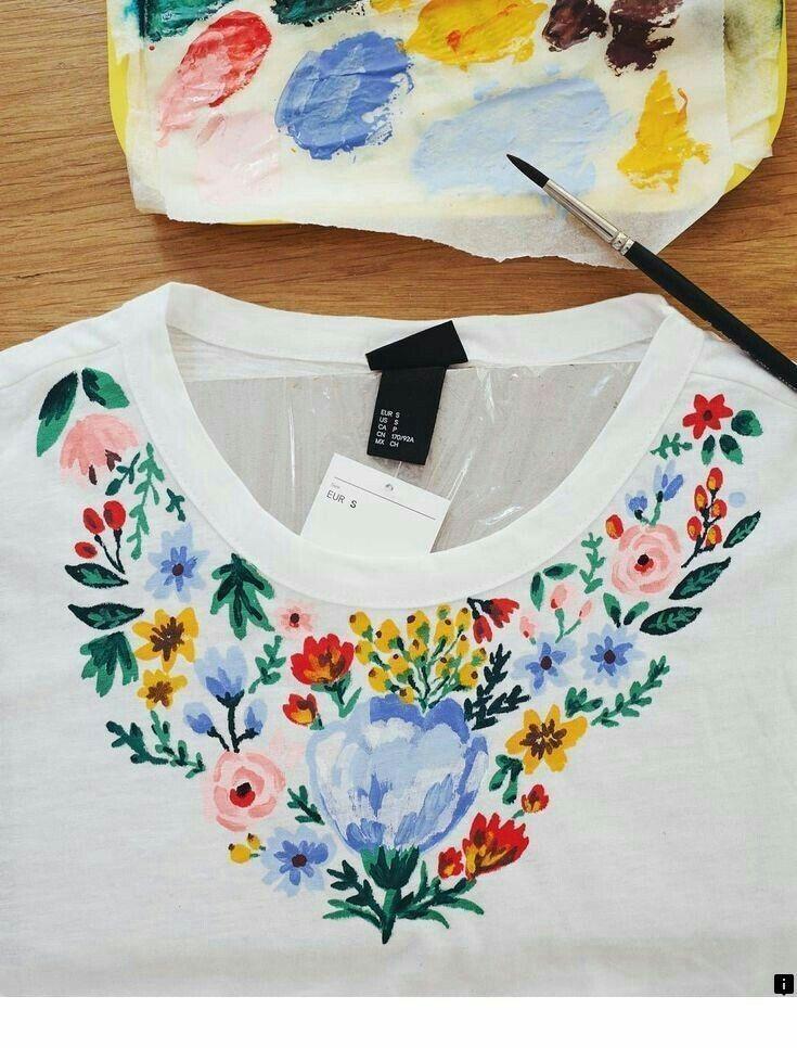 3 Easy Diy T Shirt Painting Ideas Cute766
