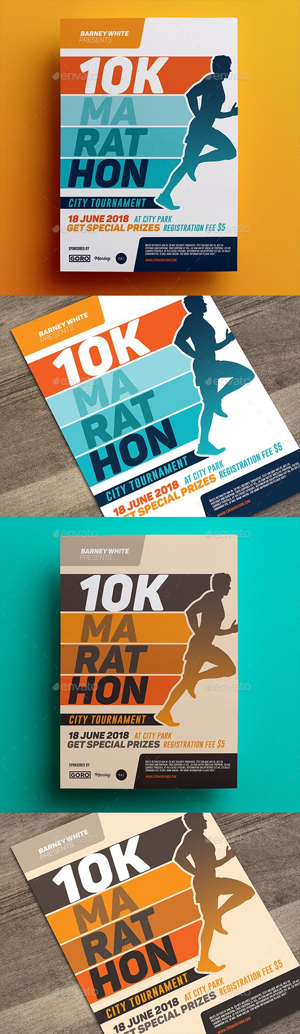 Marathon Flyer 03 by aarleykaiven Marathon Flyer, can be used for your company event, charity event, etc File Features : 2 PSD Designs Size A4 (8.2x11.6 In)   0