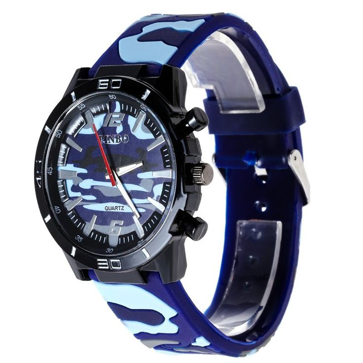 2016 Brand New Luxury Military Watches Men Sports Analog Quartz Watch Silicone Round WristWatch - Online Shopping for Watches