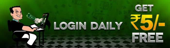 To play rummy games online for free you can login to Classic Rummy  Get Free Cash when the login to cash offer is on. Play rummy cash games starting from Rs.5 For more info visit : https://www.classicrummy.com/online-rummy-promotions/login-everyday-offer?link_name=CR-12