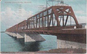 Valentine Postcard - Victoria Jubilee Bridge, Montreal