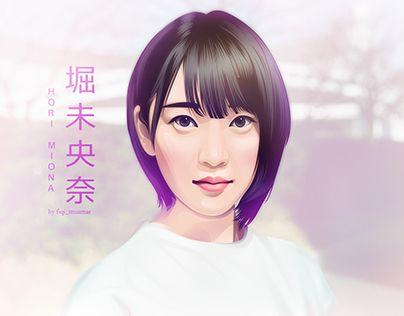 """Fan Art Hori Miona Nogizaka46 Vector Vexel"" http://be.net/gallery/44516323/Fan-Art-Hori-Miona-Nogizaka46-Vector-Vexel"