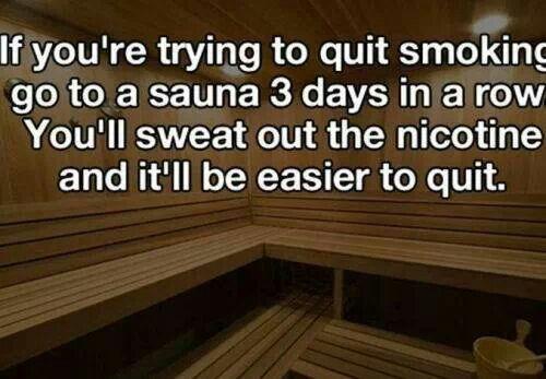 Stop smoking...