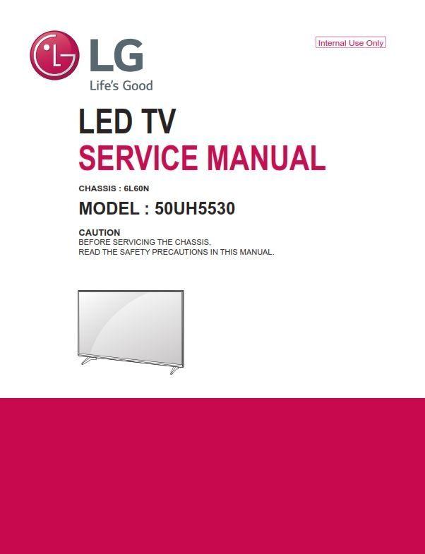 LG 50UH5530 Television Original Service Manual + Schematics in 2019