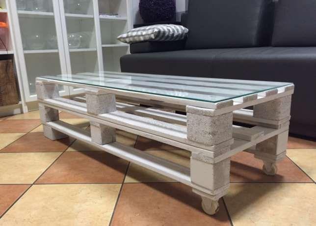 stół, stolik, ława- z palet euro w kolorze białym, w stylu LOFT. NOWA Warszawa - image 3