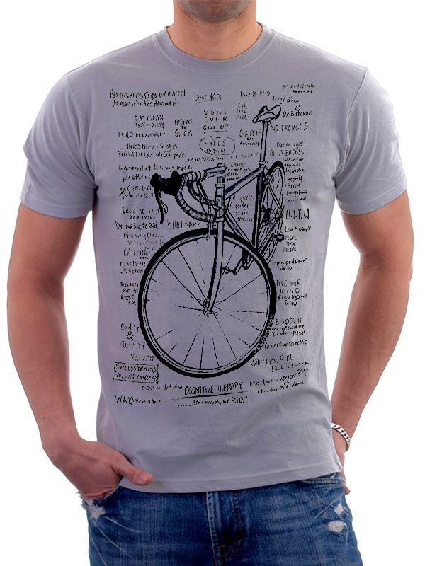 Cognitive therapy men's t-shirt in grey