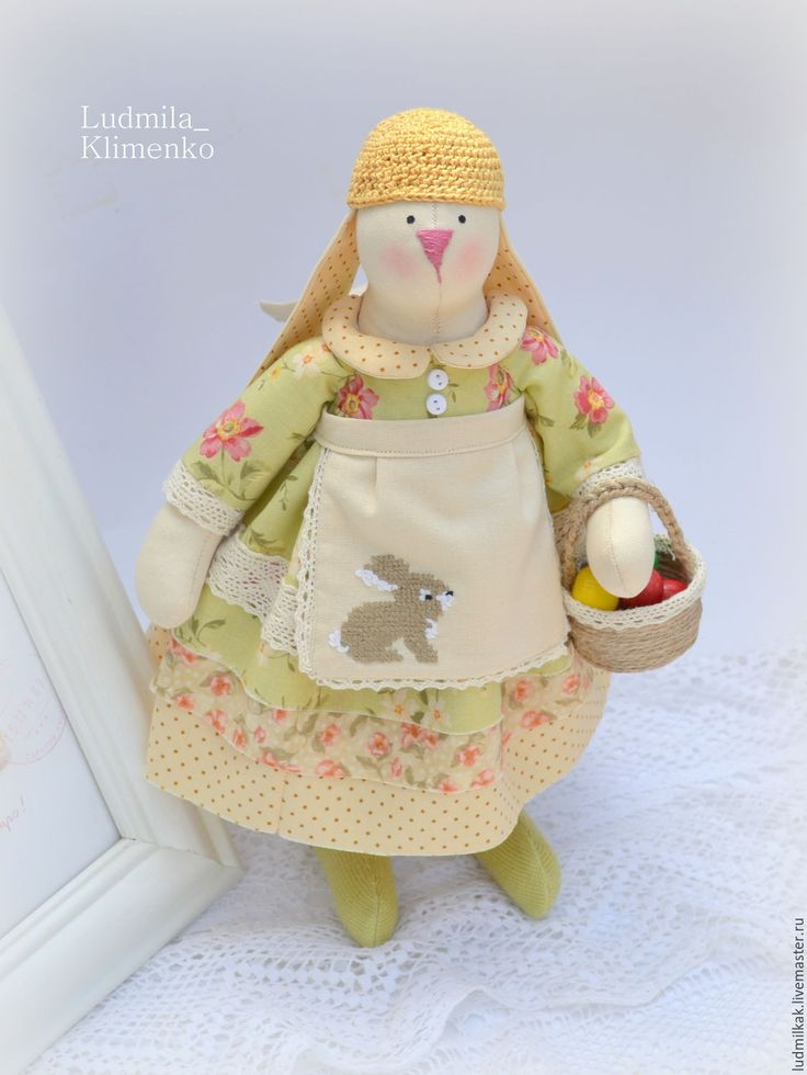 Купить Весенняя зайка - оливковый, зелень, заяц, заяц тильда, заяц игрушка, Заяц в подарок