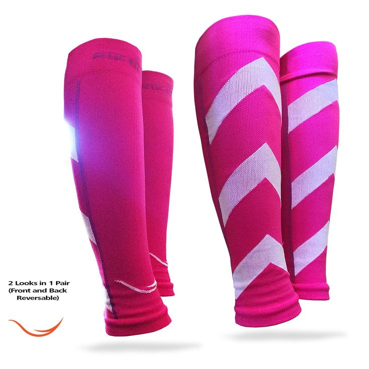 Pink Graduated Compression Calf Sleeves Guard Socks, Relief Prevent Shin Splints, Calf Strain, Boost Circulation, Faster Recovery Leg Sleeves Support or Men and Women, Best for Running, Walking, Cycling, Crossfit, Basketball, Training, Maternity, Travel