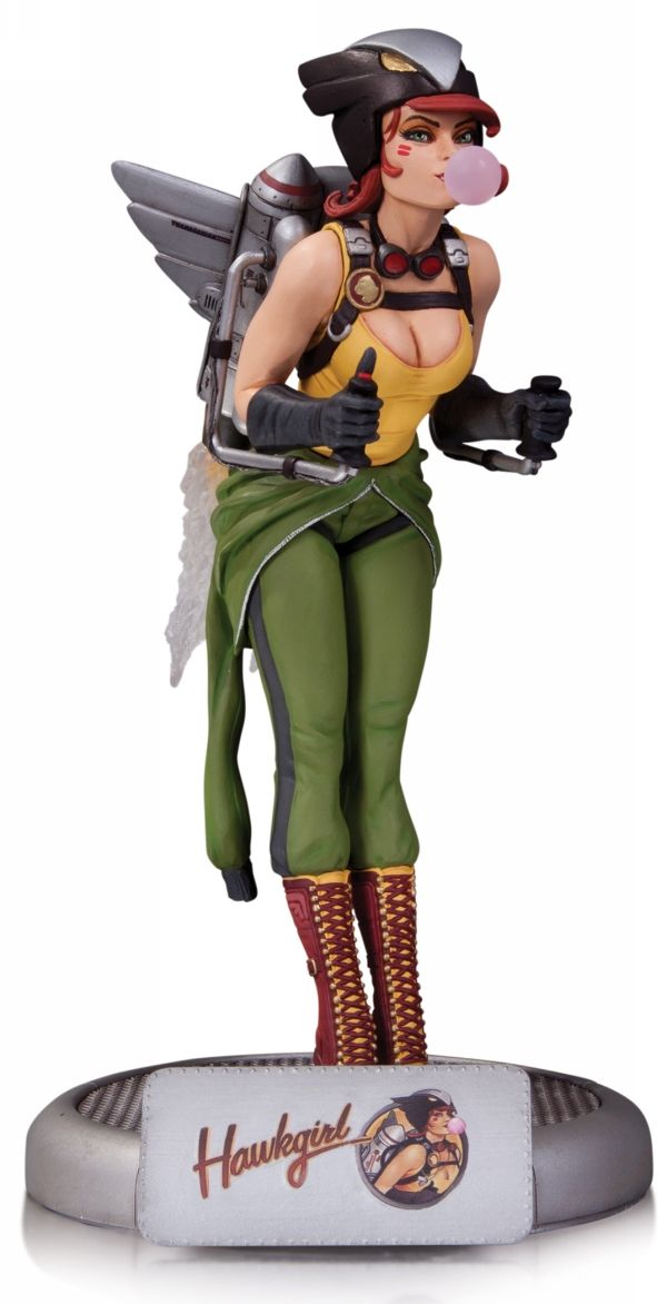 DC Comics: Bombshells Hawkgirl [Statue] by DC Collectibles - Visit to grab an amazing super hero shirt now on sale!