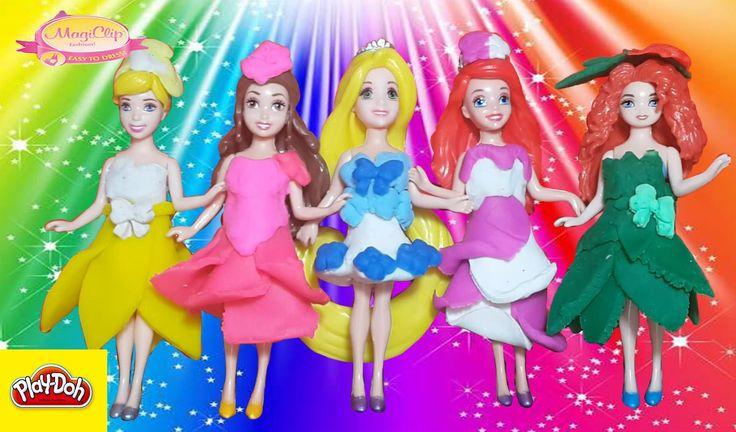 """Play Doh Princess Fashion Принцессы Дисней """"сезон цветения"""" Лепим цветоч..."""