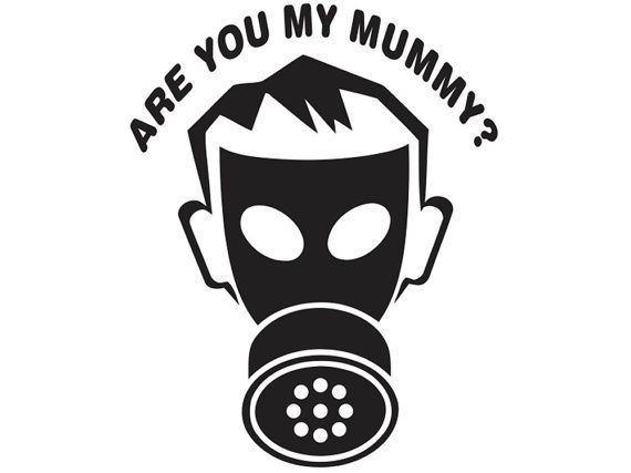 Empty Child  Are You My Mummy Doctor Who Car Decal by TurboNerd, $5.00