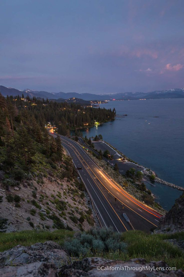 Lake tahoe sunset travel channel pinterest - Cave Rock Best Sunset Spot In South Lake Tahoe