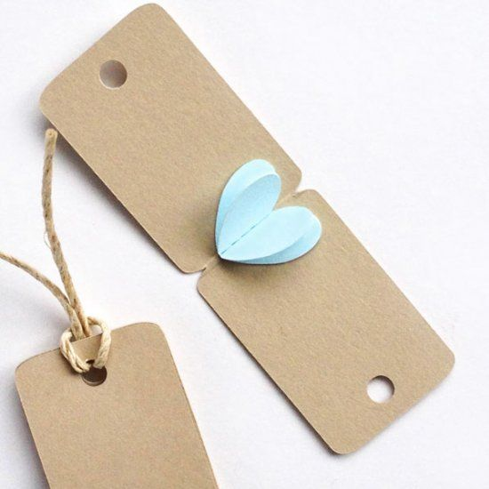 Create these 3d mini heart tags for your loved ones. Perfect for Father's Day gifts!