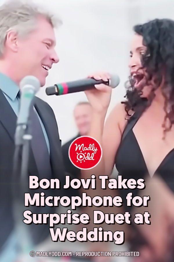 Bon Jovi Takes Microphone For Surprise Duet At Wedding The Wedding Singer Bon Jovi Wedding Videos