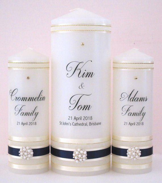 Personalised Wedding Candle Set Personalized Candles Personalised Wedding Candles Wedding Candle Set