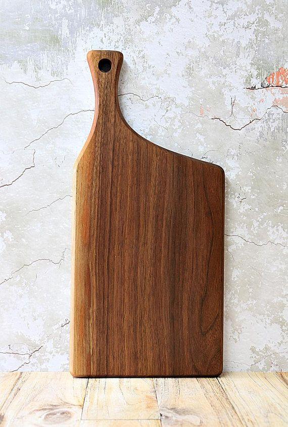 Wooden Cutting Board Walnut Offset Handle Cutting Boards
