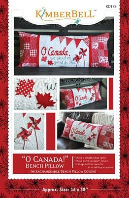 - O' Canada Bench Pillow - Hamels Fabrics & Quilting