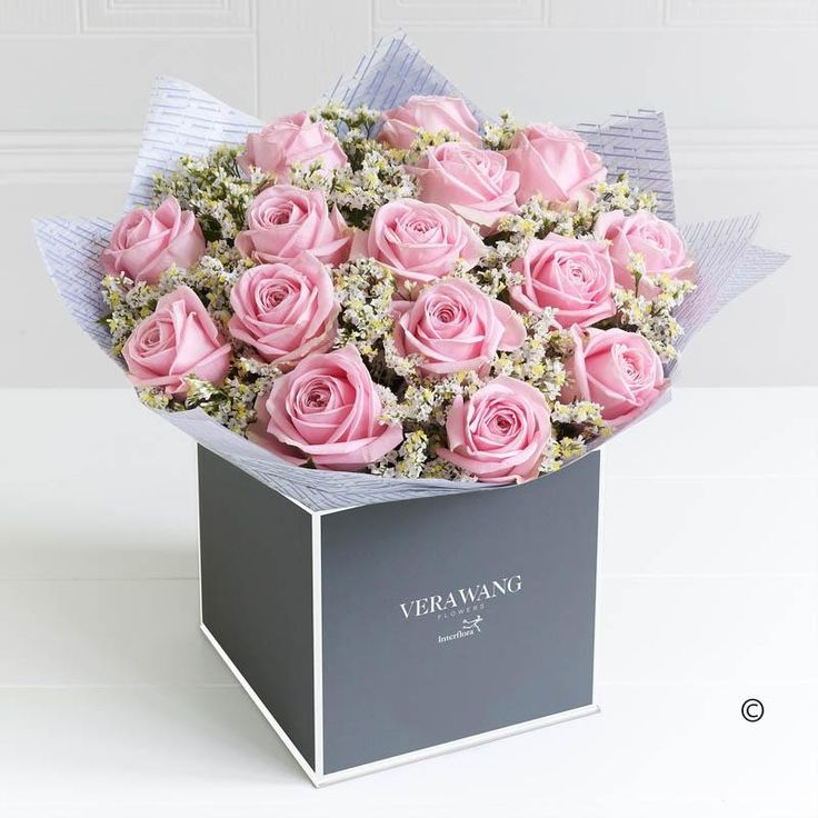Vera Wang Mother's Day Pink Perfection.  Showcasing the very best premium roses, richly coloured in a wonderfully feminine, lustrous pink, this Vera Wang bouquet is truly breathtaking; the epitome of elegance.