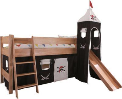 Relita Hochbett Kim aus Massivholz inkl. Stoffset Pirat Jetzt bestellen unter: https://moebel.ladendirekt.de/kinderzimmer/betten/hochbetten/?uid=f15901f6-6a0c-5386-b9f2-8b57abb619e6&utm_source=pinterest&utm_medium=pin&utm_campaign=boards #kinderzimmer #kleinkindmöbel #hochbetten #betten