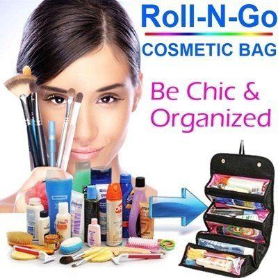 Kozmetický organizér Roll´n´Go: Dokonalý pomocník pre každú ženu ktorá potrebuje mať všetku svoju kozmetiku vždy pri sebe a dokonale zorganozpvanú. Jeho praktickosť ocenia aj profesionálne kozmetičky. Pre perfektný komfort pri užívaní je vybavený pútkom…